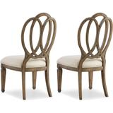 Hooker Furniture 5291-75410-2PK 42 Inch Tall Two Piece Fabric Dining Chair Set from the Solana