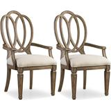 Hooker Furniture 5291-75400-2PK 42 Inch Tall Two Piece Fabric Dining Chair Set from the Solana