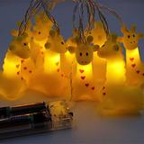 Cirkooh 4.9 Ft / 1.5 M 10 Lights Battery Powered Cute Animal Giraffe Shape LED String Lights for Indoor/Outdoor Halloween Christmas Thanksgiving Home Party Children Kids Bedroom Decoration