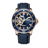 Reef Tiger Blue Dial Dive Watches for Men Super Luminous Automatic Watches Nylon Strap Sport Watches RGA3039 (RGA3039-PLL)