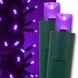 "Kringle Traditions Purple LED Christmas Mini String Light Set, 50 Lights, 17 ft Indoor/Outdoor LED Christmas Lights Halloween Decorations Outdoor Christmas String Lights, 4"" Spacing"