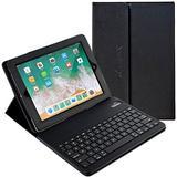 iPad Case with Keyboard, Alpatronix KX150 Leather iPad Cover w/Detachable Wireless Bluetooth Keyboard Compatible with Apple iPad Pro (10.5 inch), iPad Air 3 (10.5 inch), iPad 7 (10.2-inch) - Black