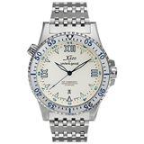 Xezo Men's Air Commando Japanese-Automatic Dive Luxury Watch, white (Air Commando D45 SS)