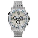 Xezo Men's Air Commando Swiss-Quartz Luxury Sport Chronograph Wrist Watches, Silver (Air Commando D45 S1)