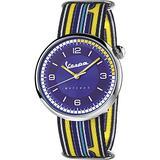 Vespa irreferent Mens Analog Japanese Quartz Watch with Nylon Bracelet VA01IRR-SS03CT