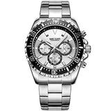MEGIR Fashion Stainless Steel Watches Men Luxury Top Brand Chronograph Quartz Watch Man Luminous Waterproof Wristwatch