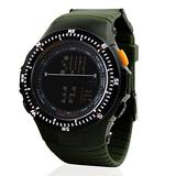 Digital Watch for Men, TONSHEN LED Electronic Outdoor Sports Waterproof 50M Water Resistant Military Multifunction Watches 12H/24H Time 1/100 Stopwatch Alarm Calendar Backlight Wristwatch -Green