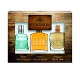 Stetson OMNI 3pc Set Decanter Set - 2.25oz Cologne Perfume (Original) + 1.75oz Cologne Perfume (Fresh) + 2oz Cologne Perfume (Rich Suede)