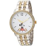DISNEY Women's Mickey Mouse Analog-Quartz Watch with Alloy Strap, Two Tone, 19 (Model: WDS000386)