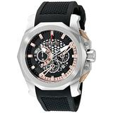 Orefici Unisex ORM2C4855 Stainless Steel Watch with Black Rubber Strap