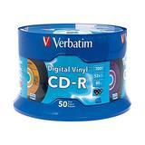 Verbatim CD-R 80min 52X with Digital Vinyl Surface 50pk Spindle - Blue/Green/Orange/Pink/Purple