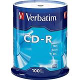 Verbatim CD-R 700MB 52X with Branded Surface - 100pk Spindle, Silver