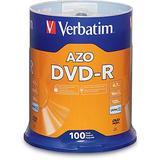 Verbatim DVD-R 4.7GB 16x AZO Recordable Media Disc - 100 Disc Spindle - 95102 - Silver