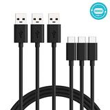 Motorola Essentials [3 Pack] SKN6473A USB-A to USB-C (Type C) Data/Charging Cable (3.3 feet) for Moto X4, Z, Z2, Z3, Z4, G7, G7 Play, G7 Plus, G7 Power, G6, G6 Plus [Not for G6 Play] (Retail Box)