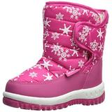 CIOR Winter Snow Boots for Boy and Girl Outdoor Waterproof with Fur Lined(Toddler/Little Kids) TX4-Pink-25
