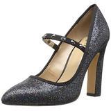 Amazon Brand - The Fix Women's Shay Studded Mary Jane Dress Pump, Black Party Glitter, 7 M US