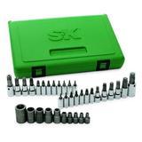 """SK Hand Tool 19763 1/4"""", 3/8"""" and 1/2"""" Drive TORX Bit Socket Bit (35 Piece)"""