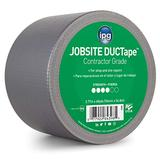 """IPG JobSite DUCTape, Contractor Grade Duct Tape, 3.77"""" x 60 yd, Silver (Single Roll)"""