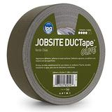 """IPG JobSite DUCTape, Colored Duct Tape, 1.88"""" x 60 yd, Olive Drab (Single Roll)"""