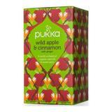 Pukka Organic Wild Apple and Cinnamon Tea - 20 bags per pack -- 6 packs per case.