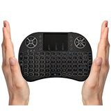 OEM (US Version) FMKRFL1-US27 2.4GHz Mini Wireless Keyboard with Mouse Touchpad, Backlit Remote Controller for Google/Android TV Box, Smart TV, HTPC, IPTV, Black