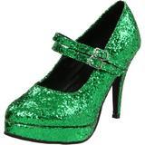 Ellie Shoes Women's 421-Jane-G Maryjane Pump,Green Glitter,9 M US