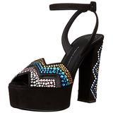 Giuseppe Zanotti Women's Dress Sandal, Black/Multi, 6 M US