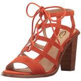 Sbicca Women's Sanni Heeled Sandal, Orange, 7 B US
