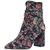 Badgley Mischka Women's Morrisey Ankle Boot, navy floral, 11 M US