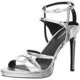 Calvin Klein Women's Shantell Heeled Sandal, Silver, 9.5 Medium US