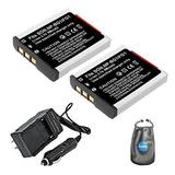Amsahr BG1-2CT Digital Replacement Battery PLUS Battery Travel Charger for Sony NP-BG1, NP-FG1 with Lens Accessories Pouch (Gray)