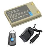 Amsahr S-SP90A Digital Replacement Battery PLUS Battery Travel Charger for SAMSUNG SP90A, SB-90ASL with Lens Accessories Pouch (Gray)