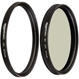 Amazon Basics UV Protection Lens Filter and Circular Polarizer Lens Set - 67 mm
