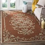 Safavieh Easy Care Collection EZC735B Hand-Hooked Area Rug, 8' x 10', Rust / Multi
