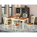 7 PC Kitchen nook Dining set for 6-Kitchen dinette Table and 6 Dining Chairs