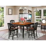 5 Pc counter height Table set- Square gathering Table and 4 counter height Chairs
