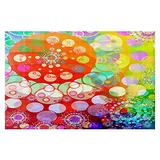 Dia Noche Woven Area Rugs, Kitchen Mats, Bath Mats by Angelina Vick Merry Go Round Spinning Small 2x3 Ft