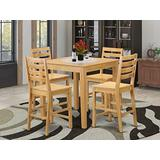 5 Pc counter height set - high top Table and 4 counter height Chairs.