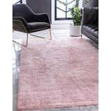 Unique Loom Solo Collection Solid Plush Kids Pink Area Rug (2' 2 x 3' 0)