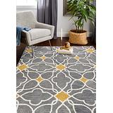 Bashian Chelsea collection ST261 hand tufted 100% wool area rug, 7.6' x 9.6', Grey