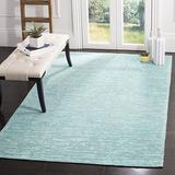 Safavieh Marbella Collection MRB631K Handmade Abstract Chenille Area Rug, 6' x 6' Square, Blue / Turquoise