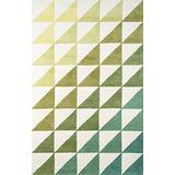 "Novogratz Delamr Collection Agatha Side Triangles Area Rug, 8'0"" x 10'0"", Lime Green"