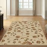 "Radici USA 1835 Como Transitional Ivory Floral Oriental Area Rug (7'9"" x 11')"