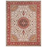 """Pasargad Carpets Persian Tabriz Collection Hand Knotted Silk & Wool Area Rug, 9'11"""" x 13' 0"""""""