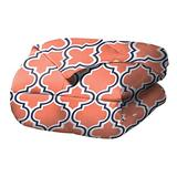 SUPERIOR Trellis Comforter Set with Pillow Shams, Luxurious & Soft Microfiber with Down Alternative Fill, Contemporary Geometric Trellis Design - King/California King Bedding Set, Coral