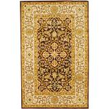 Herat Oriental Indo Hand-Tufted Wool Rug, 5' x 8', Brown/Ivory