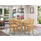 5 Pc counter height pub set-pub Table and 4 Kitchen bar stool