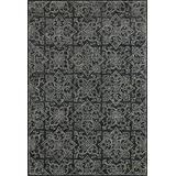 """Loloi Rugs Filigree Collection Traditional Area Rug, Charcoal, 3'-6"""" x 5'-6"""""""