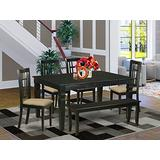 6-Pc Kitchen nook Dining set- Kitchen dinette Table and 4 Dining Chairs with Bench
