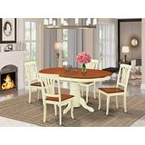 East West Furniture dining room table set 4 Amazing wooden Chairs - A Lovely wood table- cherry Color Wooden Seat cherry and buttermilk Butterfly Leaf dining table